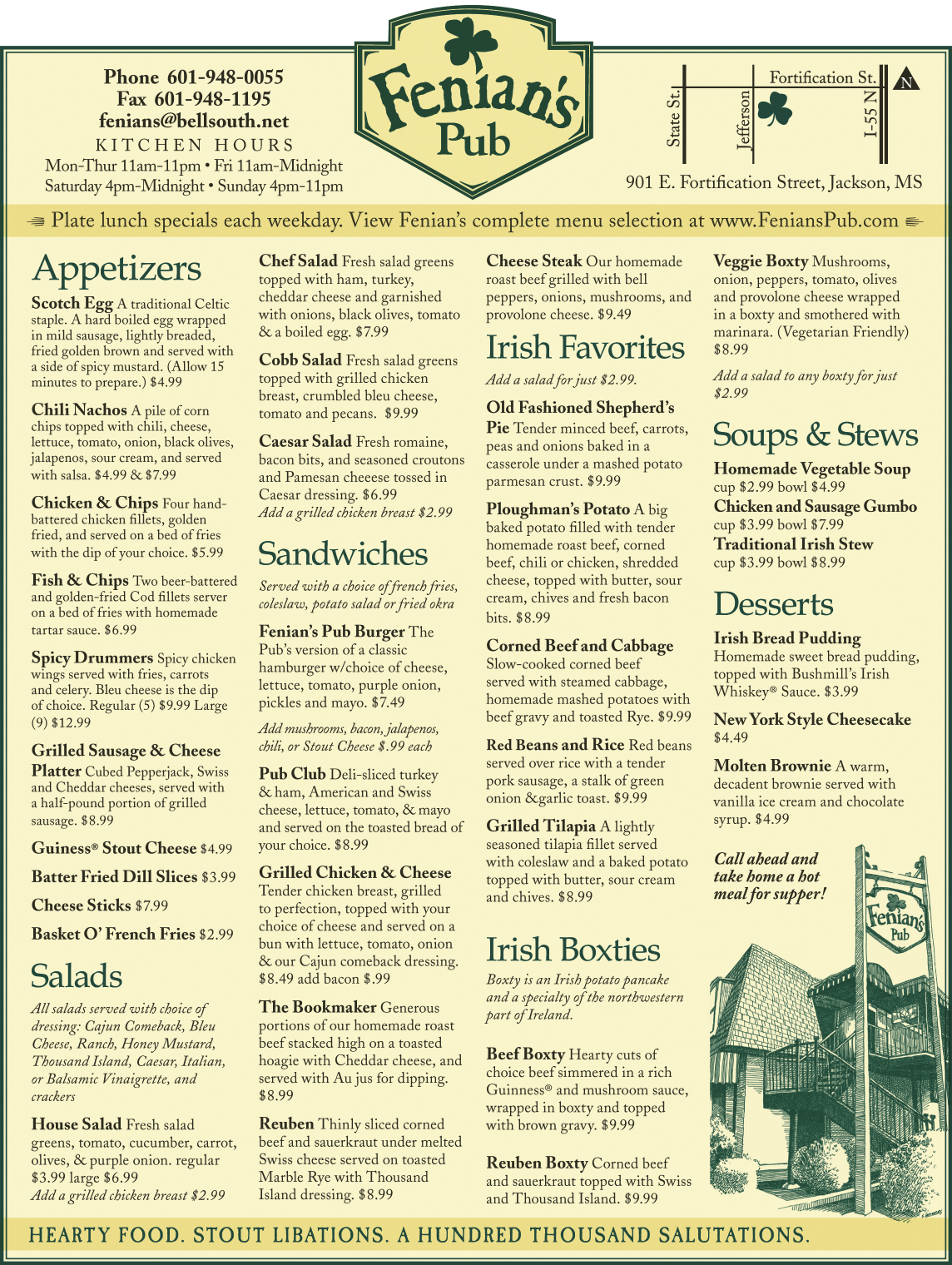 Fenian's Pub | Jackson Free Press | Jackson, MS |Irish Luncheon Ideas