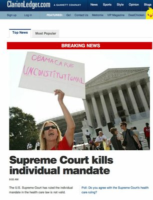 "Your moment of Zen. The Clarion-Ledger originally posted this story package on the front page of its website this morning, later in the day blaming it on a CNN ""aggregation"" problem."