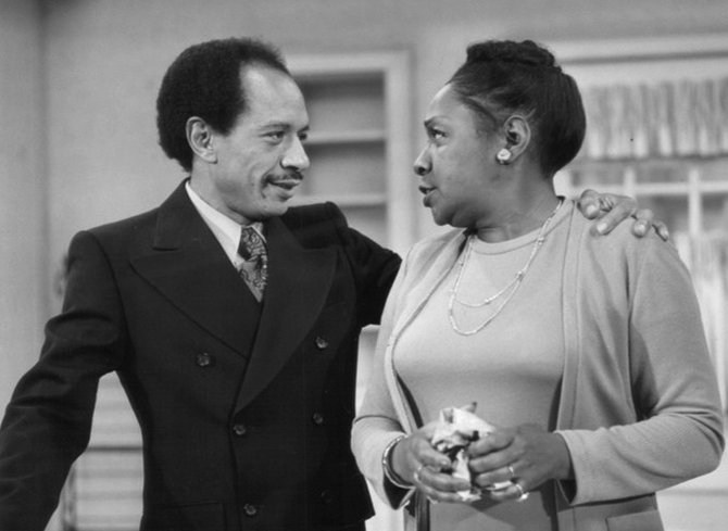 Sherman Hemsley is shown in this 1974 CBS publicity still with Isabel Sanford. The two played the roles of George and Wezzie Jefferson on &quot;All in the Family&quot; and, later, &quot;The Jeffersons.&quot;