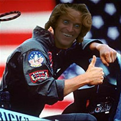 Hopefully they will remake Top Gun with Willem Dafoe
