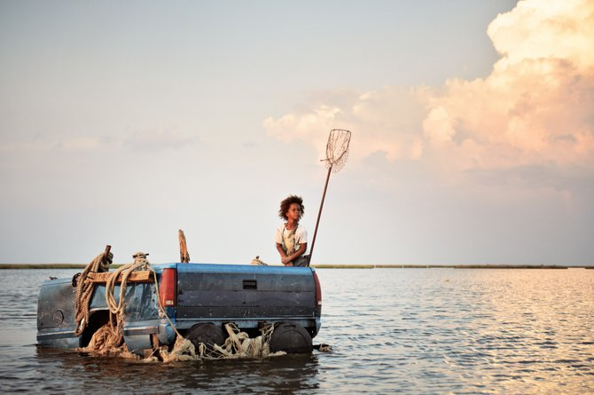 "Quvenzhane Wallis stars as Hushpuppy in ""Beasts of the Southern Wild,"" set in the fictional town of Bathtub in the Louisiana bayou."
