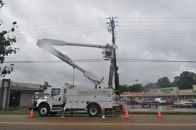 Entergy has a workforce of 10,000 and its crews are working 16 hours per day to restore power to all its customers.