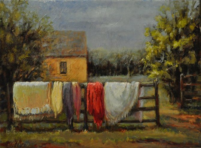 """Pat Walker, known for oil paintings like """"Fall Blankets"""" shares tips for creating masterpieces in her workshop series."""