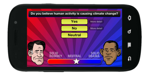 Still undecided? You can take the Obama v. Romney app quiz to see whom you lean toward.