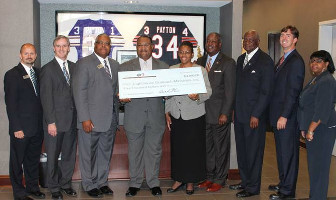 BankPlus and Federal Home Loan Bank of Dallas presented two Jackson organizations with $4,000 grants.