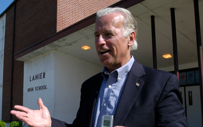 The JFP took then-Sen. Joe Biden on a tour of Jackson in 2006 for an in-depth interview. Photo by Kate Medley