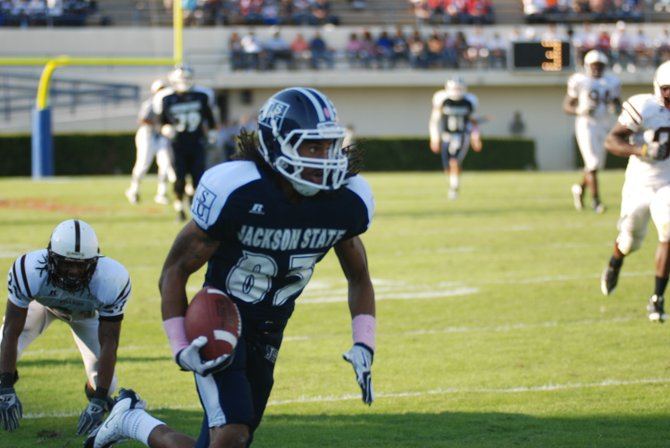 Rico Richardson of the Jackson State Tigers.