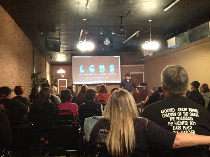 People from all walks of life came together to listen to speakers on the paranormal.