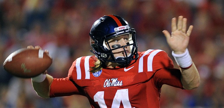 Quarterback Bo Wallace led Ole Miss to one of only a handful of wins for Mississippi teams this week.