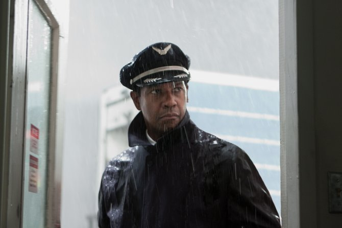 "Oscar-winning actor Denzel Washington gives a stellar performance as a man lost in denial in ""Flight."