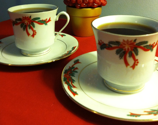Warm up with hot mulled cider before a caroling party.
