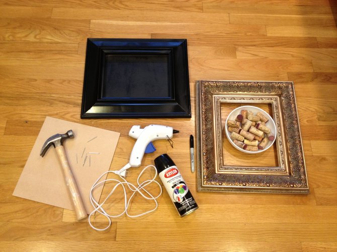 Making your own wine corkboard is very easy and less expensive than those kits anyway. Just start with a fun and funky frame.