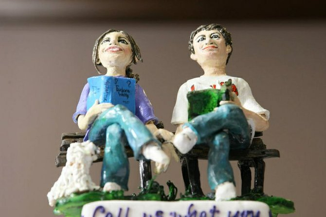 Cake toppers personalized to resemble the bride and groom are a big hit at weddings, plus a fun keepsake to display later.