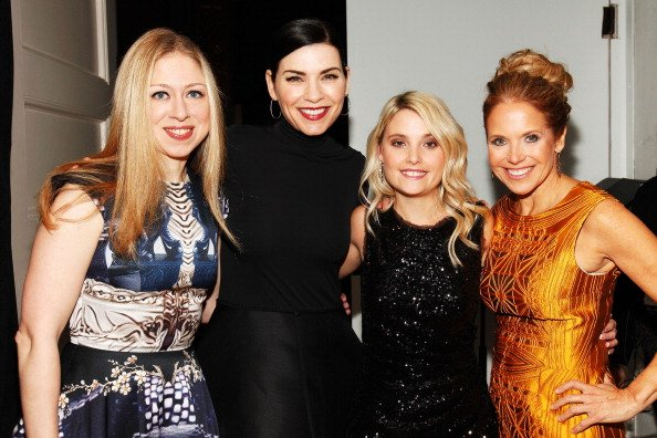Erin Merryn (second from right) used her own experiences to begin a crusade to end child sexual abuse in the United States. Also pictured from left to right are Chelsea Clinton, Julianna Margulies and Katie Couric.