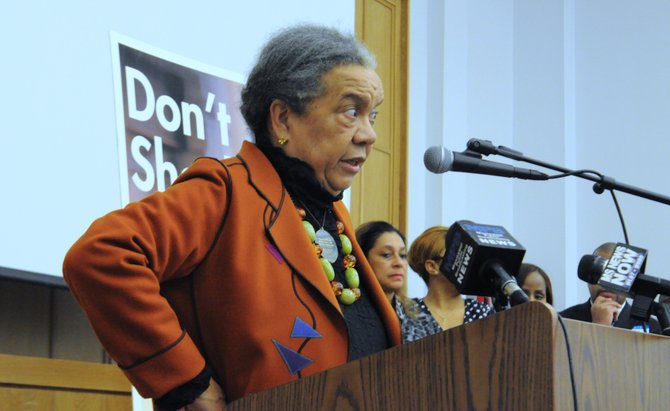"Children's Defense Fund founder and director Marian Wright Edelman, along with other Jackson-area youth advocates, unveiled a set of recommendations to end zero-tolerance school-discipline policies that feed what CDF and others have termed a ""cradle-to-prison pipeline."""
