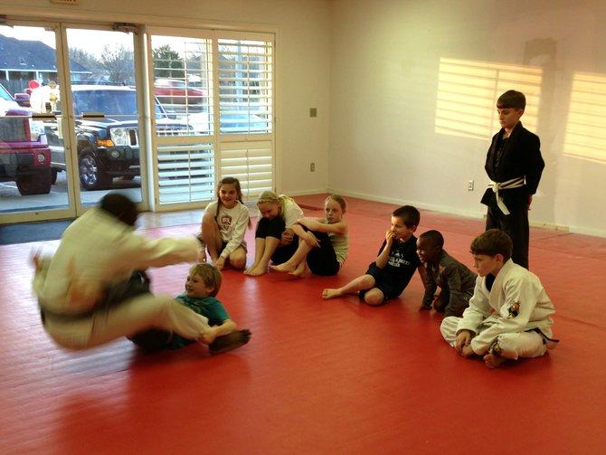 Jarrett Becks teaches anti-bullying classes to young students.