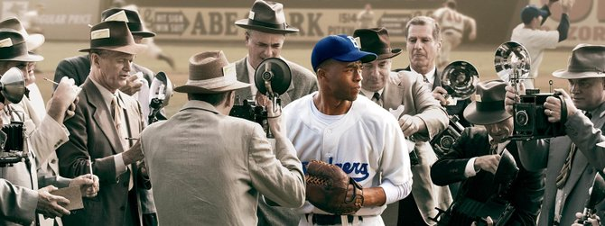 '42' swings a heavy bat at issues of racism and bigotry.