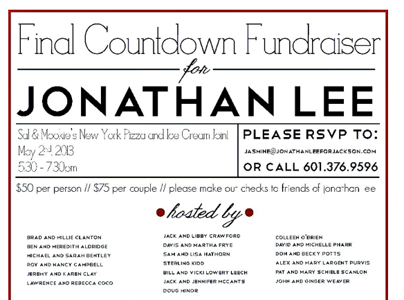 All last-minute contributions to political candidates, such as at this fund raiser, must be reported in the final week before the primaries in 48-hour reports. Amounts over $200 must be itemized.