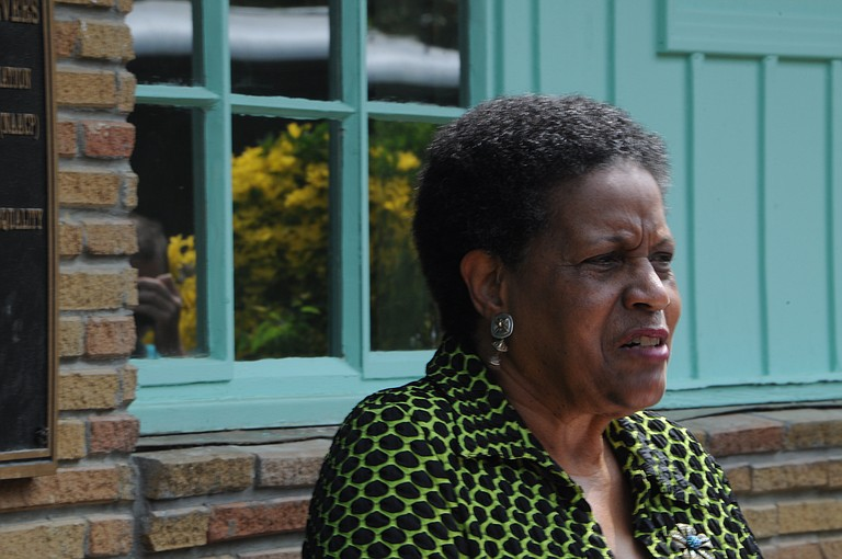 Myrlie Evers-Williams, now a scholar-in-residence at Alcorn State University in Lorman, attended a 50th commemoration of Medgar's assassination this morning in Jackson.