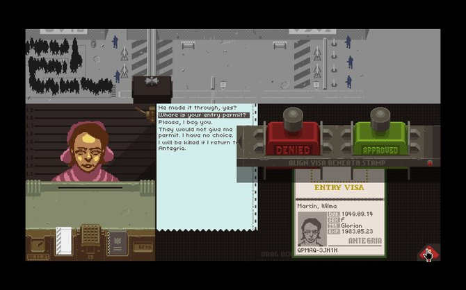 """Papers, Please"" is simple but brilliant as a dystopian document thriller."