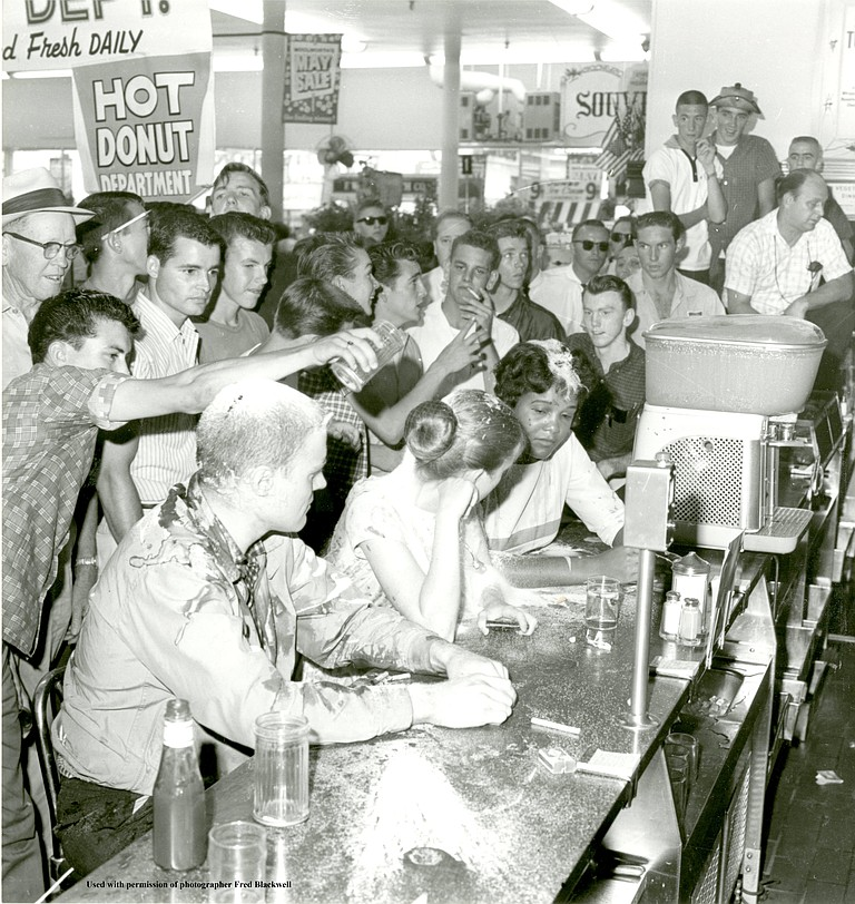 The counter at Woolworth's on May 28, 1963.