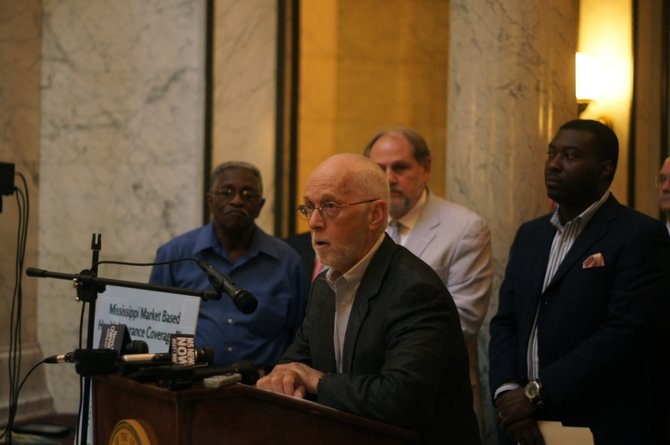 Democratic Jackson state Rep. Cecil Brown (center) is among the Democrats proposing the Mississippi Market Based Health Insurance Coverage Plan, in which instead of the federal government paying states to expand Medicaid, the funds would go directly to individuals to purchase health insurance on state-run exchanges.