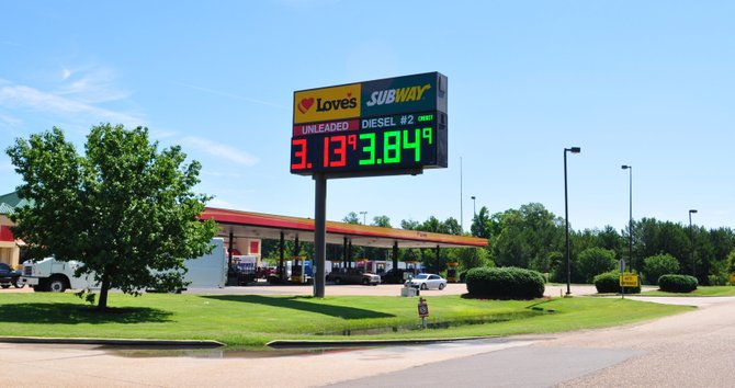 Petroleum speculators attribute Mississippi's below-average gas prices, like the ones found at Love's Truck Stop on Hwy. 80 in Pearl, to stabile production from refineries.