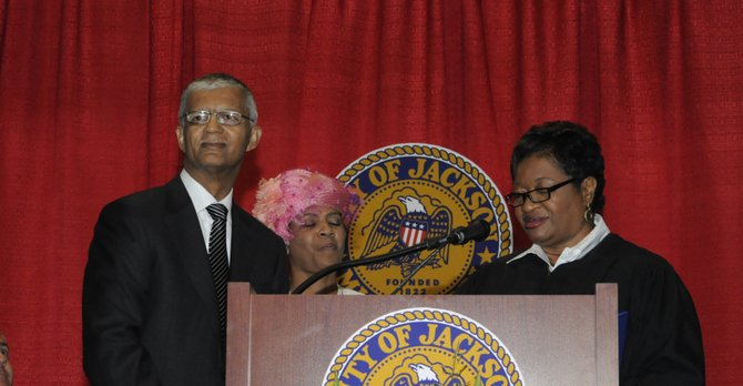 Chokwe Lumumba took the oath of office on July 1, 2013.