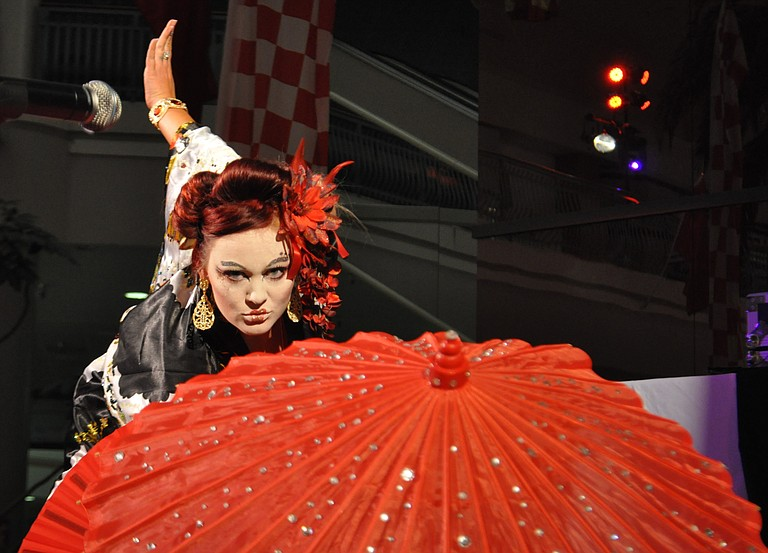 Burlesque dancer Jezabelle von Jane brings her unique performing style to Chick Ball this Saturday.