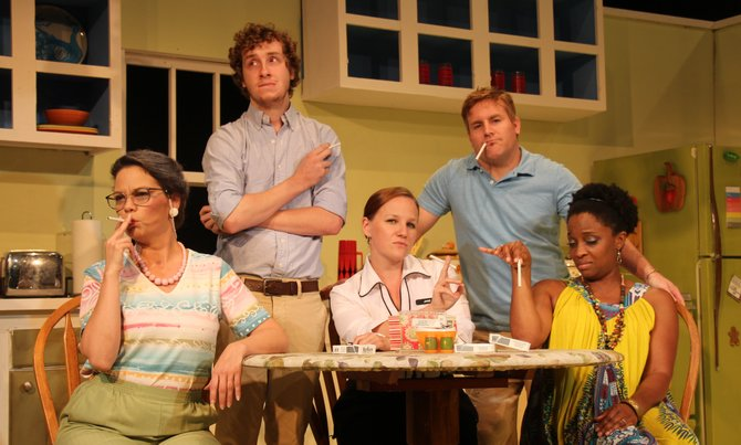 """(Left to right) Juniper Wallace, Matt Faries, Malaika Quarterman, Michael Kinslow and Deja Abdul-Haqq star in Warehouse Theatre's latest show, """"See Jane Quit."""""""