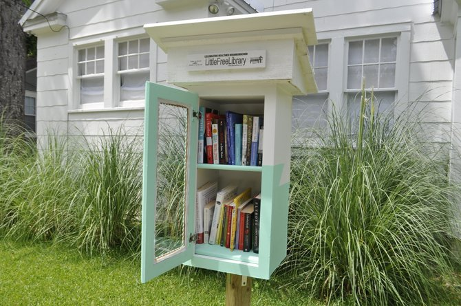 The second Little Free Library in Jackson recently went up outside Fondren Muse.
