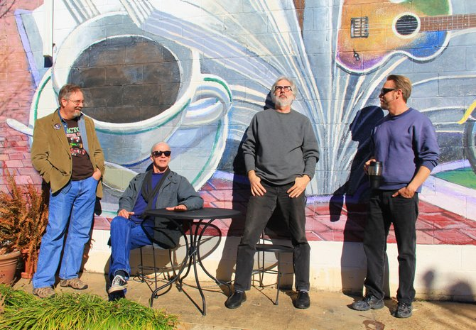 The Cedars hosts a show featuring four Clinton artists (from left: Sam Biebers, Wyatt Waters, Ron Lindsey and Paul Fayard) and friends.