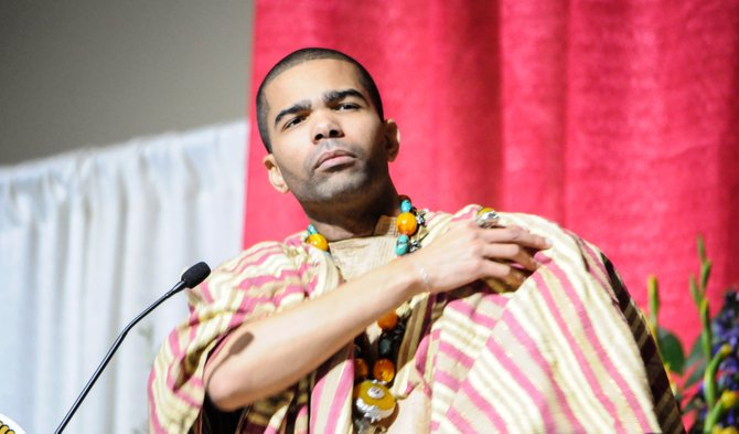 Chokwe Antar Lumumba delivered the eulogy along with his sister, Rukia Lumumba.