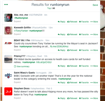 These are all the Yarber-related #runtonyrun posts I found.