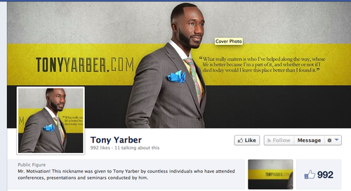 From Yarber's Public Figure Facebook page.