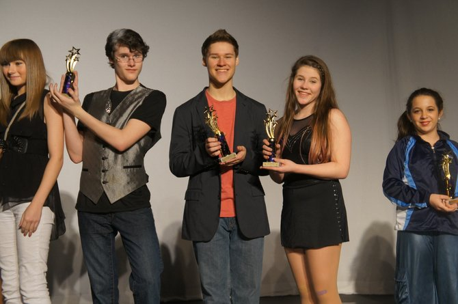 The winners of last year's showcase were Heather Van Horn, Cade Mitchell, Dalton Mitchell, Chesney Mitchell, Kadie Lee (seen left to right).