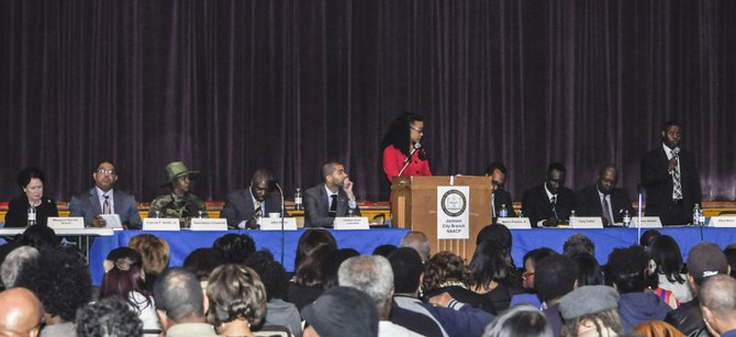 The candidates gathered for a mayoral forum to discuss issues for the special election.