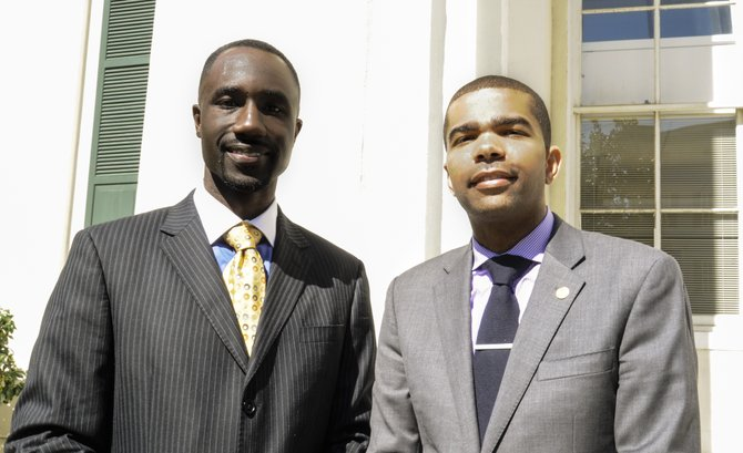 The latest information from the clerk's office shows Chokwe A. Lumumba (right), a 31-year-old attorney and son of the late Mayor Chokwe Lumumba, narrowly edging out Ward 6 Councilman Tony Yarber (left), 36, by only 10 votes—10,910 to 10,900—putting them both in an April 22 runoff.