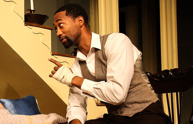 """Jackson State University professor Yohance Myles has starred in numerous plays around Jackson, including """"The Whipping Man,"""" where he played a just-freed slave named John."""