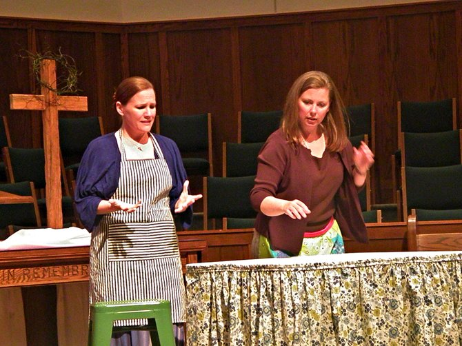 "Holly Wiggs and Malaika Quarterman play sisters Martha and Mary in Fish Tale Group Theatre's ""Martha."""