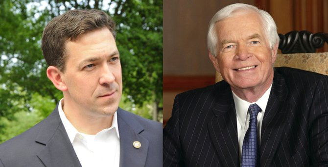 Chris McDaniel (left) and Thad Cochran (right)