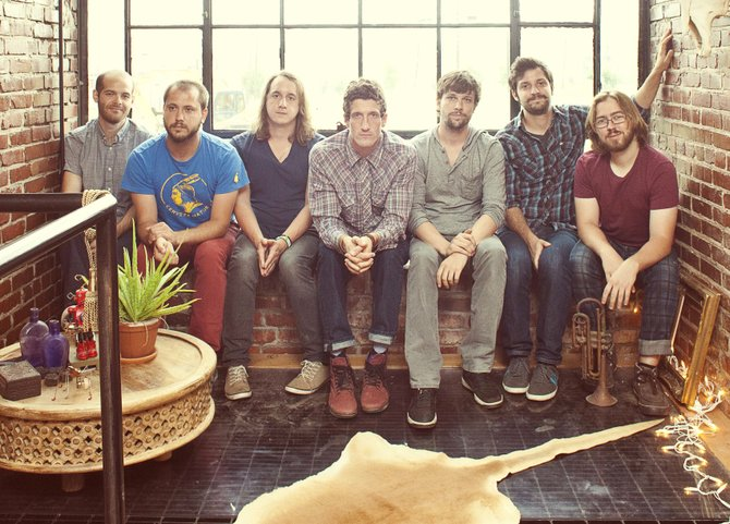 The members of  The Revivalists (from left: Andrew Campanelli, Rob Ingraham, George Gekas, David Shaw, Ed Williams, Zach Feinberg and Michael Girardot) fuse several genres to create their soulful and danceable rock music.