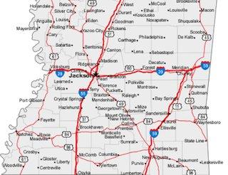Freedom Summer Road Map JFP Mobile Jackson Mississippi - Road map of mississippi
