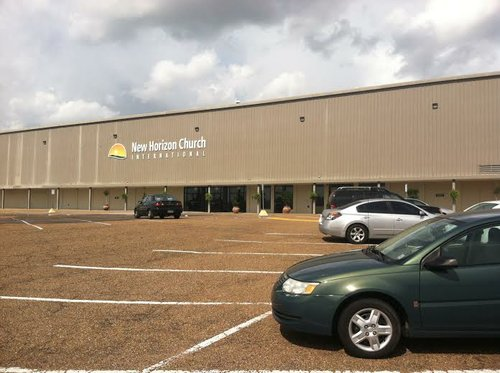 The building in which New Horizon Church International is housed is also home to several other businesses.
