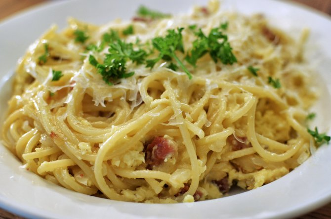 """Carbonara, not to be confused with the Carbonari, the 19th-century Italian secret society, is derived from the word carbonaro, which means """"charcoal burner."""""""