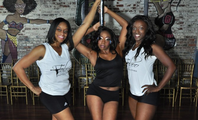 From left: Jacqueline Mitchell, Kimberly Sweeney and Crystal Penigar own Taboo Dance and Fitness in Jackson.