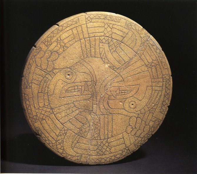 This disk, made of brown sandstone and found in Issaquena County, proves that Native Americans were not the primitive people many think they were.