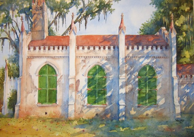 "With his ""Chapel in the Woods"" piece, David Waldrip, who serves on the Mississippi Watercolor Society's board, is one of three Mississippi artists who received honorable mention in this year's Grand National Watercolor Exhibition."