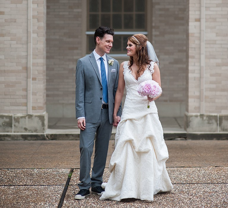 Writer Nell Knox and artist William Goodman married June 1, 2014.