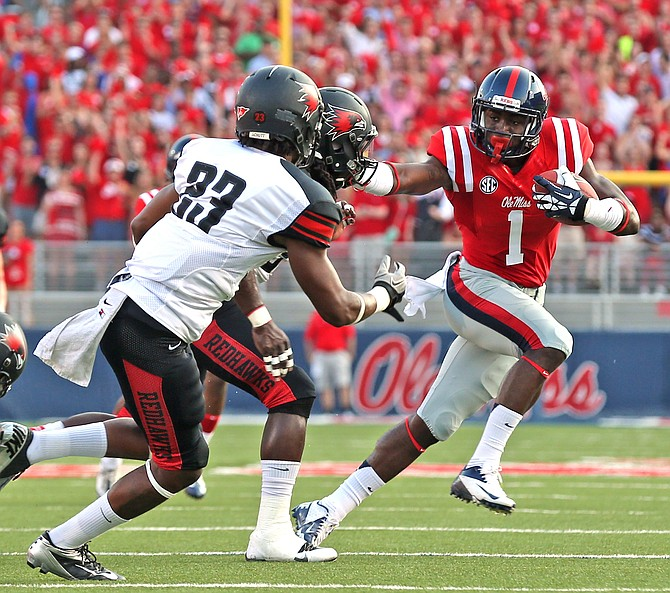An ankle injury puts Ole Miss's star wide receiver, Laquon Treadwell, out for the Egg Bowl.